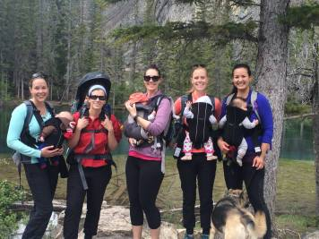 Mountain Mommas Hiking Group, Grassi Lakes, Canmore