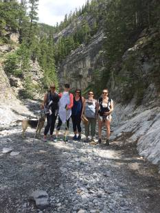 Mountain Mommas Hiking Group, Grotto Canyon, Canmore