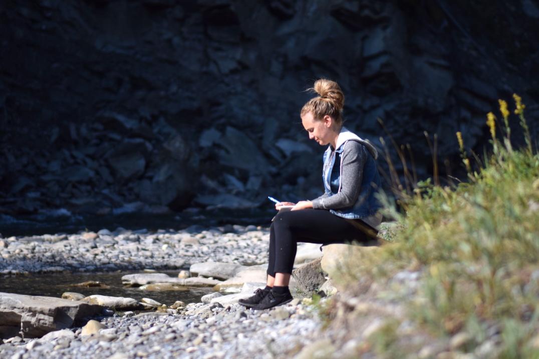 Journaling and reflecting.